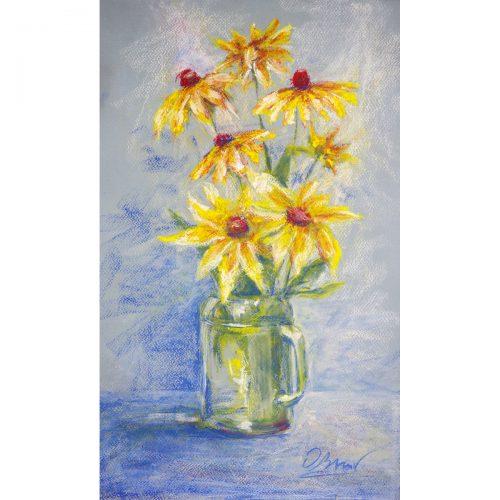 Echinacea - soft pastel on paper