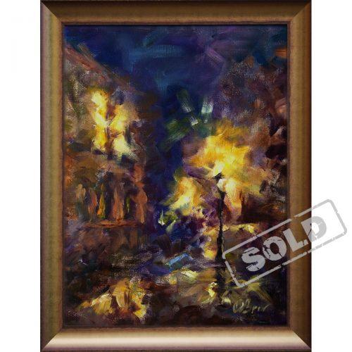 Night Pragur - original acrilic painting
