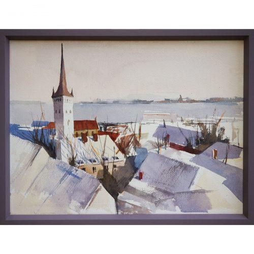 Winter Tallin - watecolor o paper