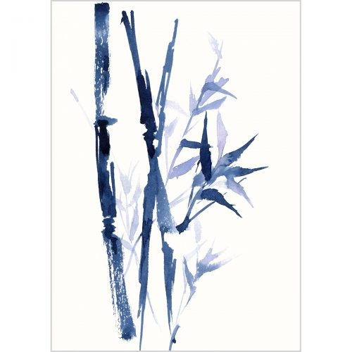 """Blue bamboo, watercolor on paper, 7.811.8"""" (20x30 cm)"""