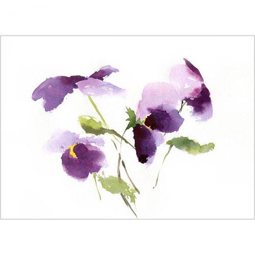"Kiss me quick flowers, watercolor on paper, 11.8*7.8"" (30x20 cm)"