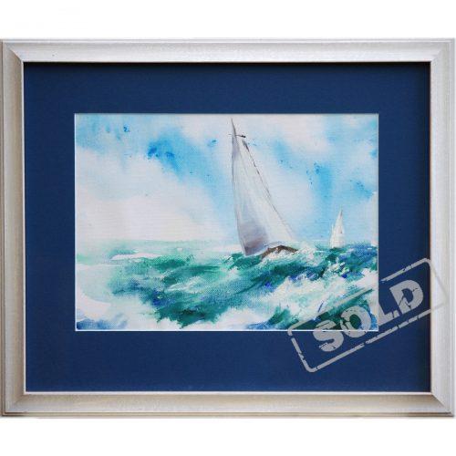Sailboat - acrylic painting