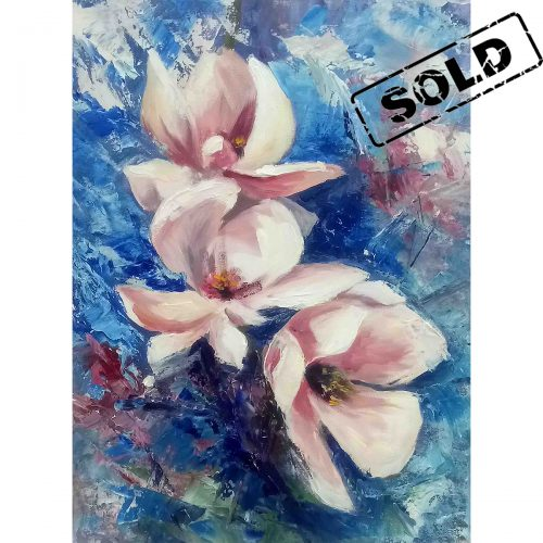Magnolia flowers- original painting