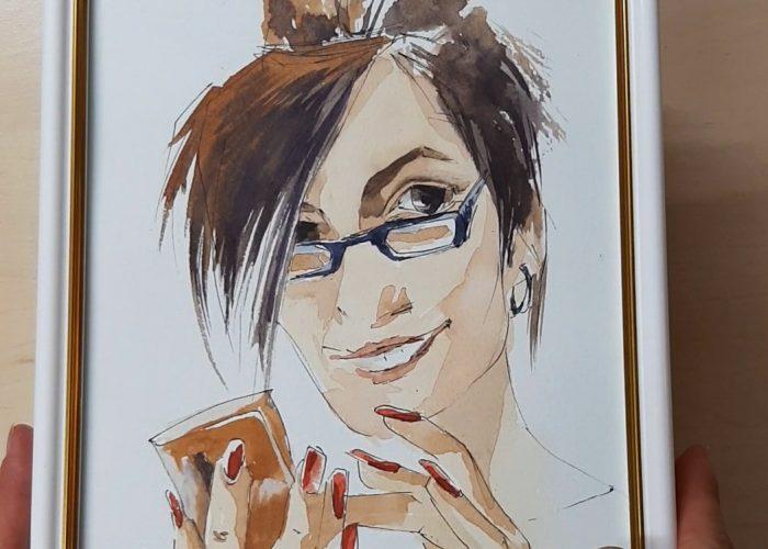 Sketch portrets of team members beauty salon Cherubino