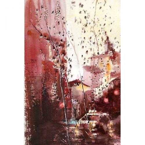 Rainy trip, episode 2 - watercolor 60x40 cm