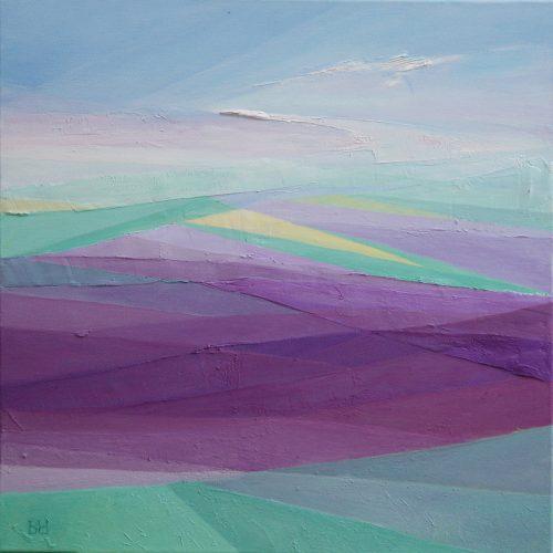 Violet - oil painting - 50x50 cm