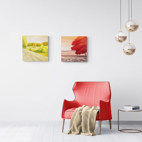 Colors of Earth - oil paintings in interior